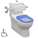 Life Assist Special Needs Back to Wall Toilet Suite P/S Trap 90-300mm (Note: back rest is sold as a separate item), WELS 4 star rating, 4.5/3L