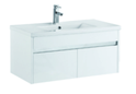 900mm PVC Wall Hung Vanity with Waterproof Cabinet & Soft closing drawers