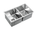 KSS-775 Square Deep Double Bowl Drop in/undermount Kitchen Sink 775x450x235mm