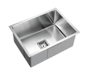 KSS-550 Square Deep Single Bowl Drop in/undermount Kitchen Sink 600x450x235mm