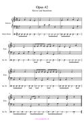 Noten für Klavier und Cajon