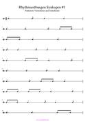 Rhythmusübungen Synkopen PDF Musikunterricht
