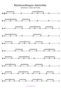 Rhythmusübungen Achtelnoten, Triolen Musikunterricht PDF