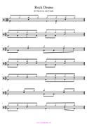 Rock Schlagzeug Noten einfach