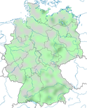 Karte zur Verbreitung der Kolbenente (Netta rufina) in Deutschland im Jahresverlauf.