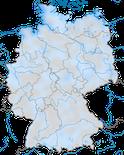 Karte zum Vorkommen des Alpenstrandläufers in Deutschland im Jahresverlauf.