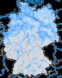 Karte zur Verbreitung der Blässgans (Anser albifrons) in Deutschland während des Winters