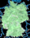 Karte zur Vebreitung der Krickente (Anas crecca) in Deutschland im Jahresverlauf.