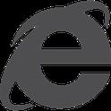 Logo Internet Explorer Gris