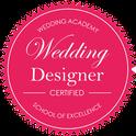 Label certification wedding designer pour l'agence d'organisation et de décoration de mariage My Daydream Wedding