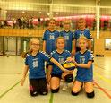 Das Team des Tages: v. lks., hinten: Matilda, Romy, Sophia; vorne: Julie, Carla, Deliah.