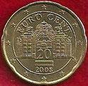 MONEDA AUSTRIA - KM 3140 - 20 CÉNTIMOS DE EURO - 2.008 - ORO NÓRDICO (EBC/XF) 0,75€.
