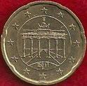 MONEDA ALEMANIA - KM 255 - 20 CÉNTIMOS DE EURO - 2.011 (D) ORO NÓRDICO (EBC/XF) 0,90€.
