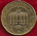 MONEDA ALEMANIA - KM 211 - 20 CÉNTIMOS DE EURO - 2.002 (J) ORO NÓRDICO (MBC/VF) 0,75€.
