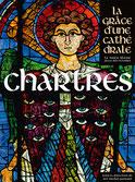 Séraphin du XIIIe siècle sur un vitrail du haut-chœur.© Photo Henri Gaud/ CIV, Evêché de Chartres, La Nuée Bleue