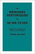 Se-ma Ts'ien : Les Mémoires historiques, tome deuxième, traduits par Édouard Chavannes