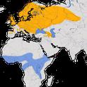Karte zur Verbreitung des  Braunkehlchens (Saxicola rubetra)