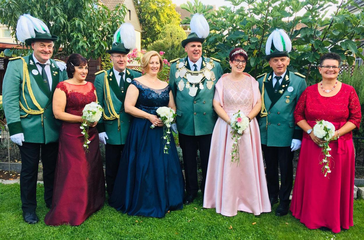 Schützenfest 2019, Königsthron 2019, BSV-Orsoy, Schützenverein, Orsoy,