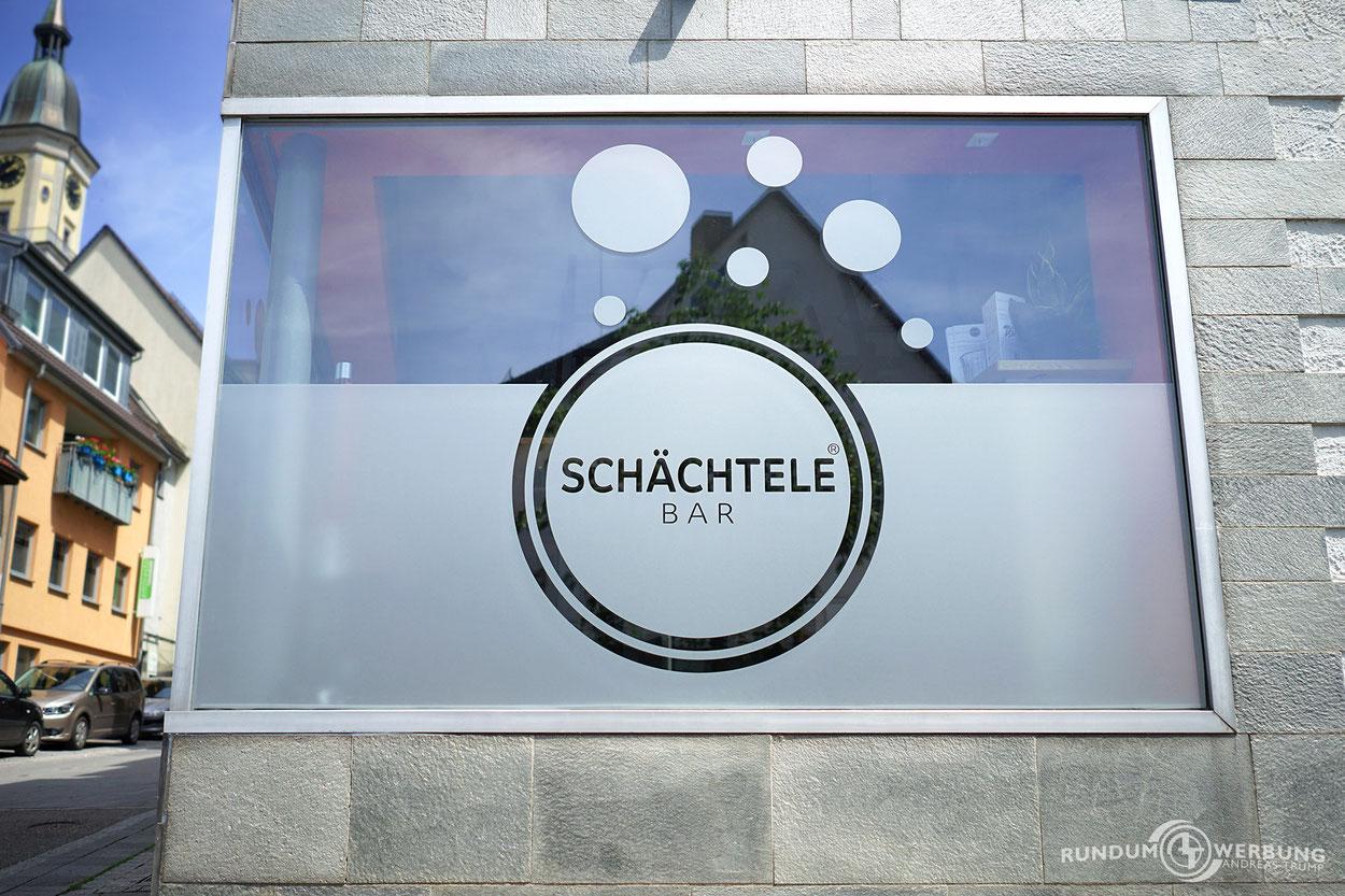 Rundumwerbung Andreas Trump Glasdekorfolie Sichtschutzfolie Werbung Crailsheim