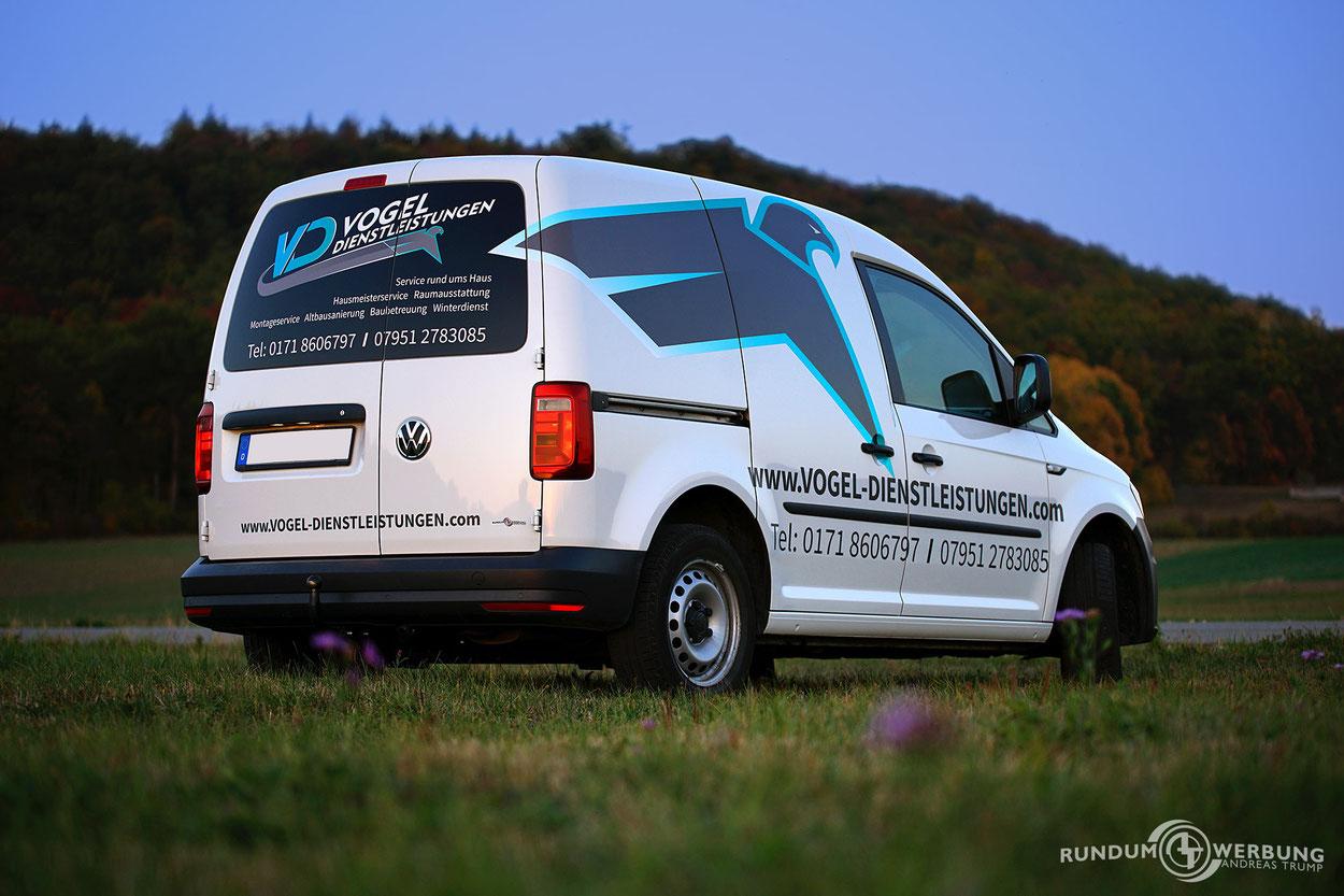 Rundumwerbung Andreas Trump Fahrzeugbeschriftung Werbung Crailsheim