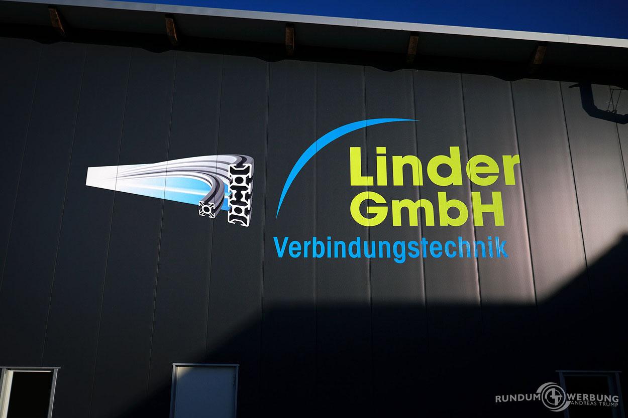 Rundumwerbung Andreas Trump Fassadenbeschriftung Firmenbeschriftung Werbung Crailsheim