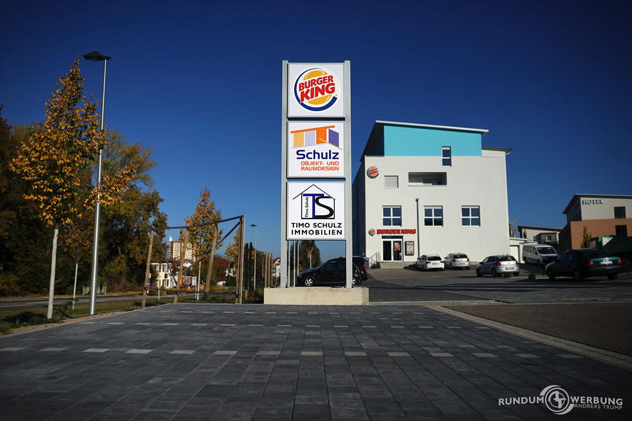 Rundumwerbung Andreas Trump Werbepylon Werbung Crailsheim