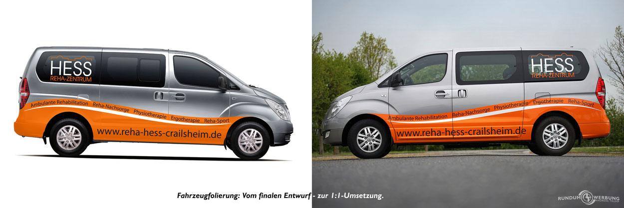Rundumwerbung Andreas Trump Werbung Crailsheim Fahrzeugbeschriftung