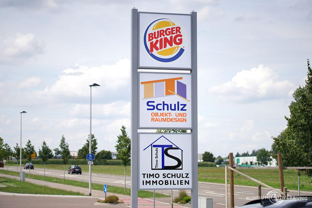 Rundumwerbung Andreas Trump Pylon Werbung Crailsheim