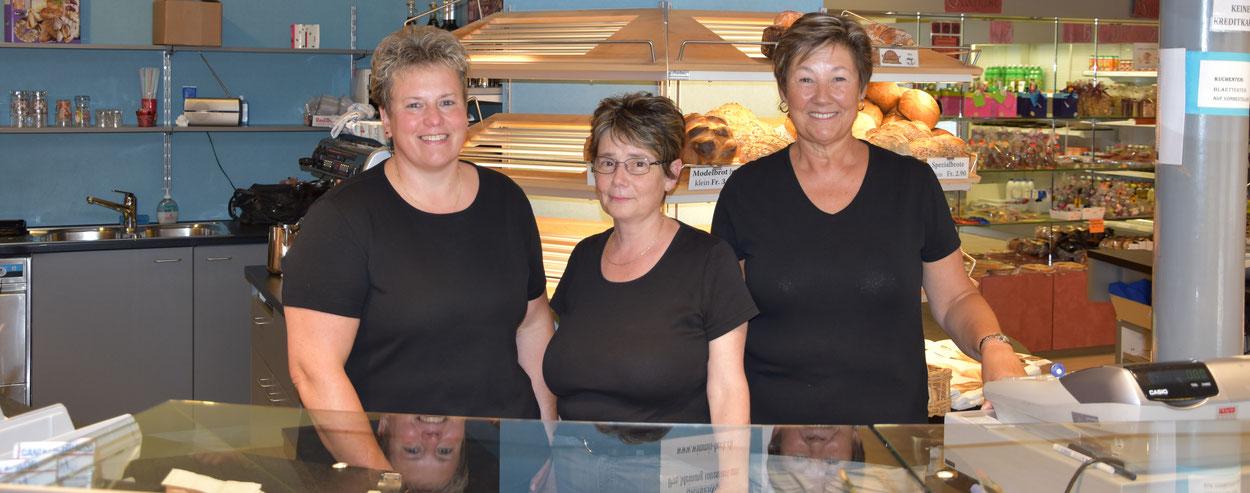 Verkaufspersonal der Bäckerei Graber in Wimmis