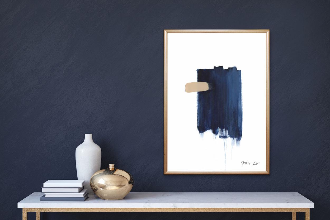 True Blue 1 Poster Print