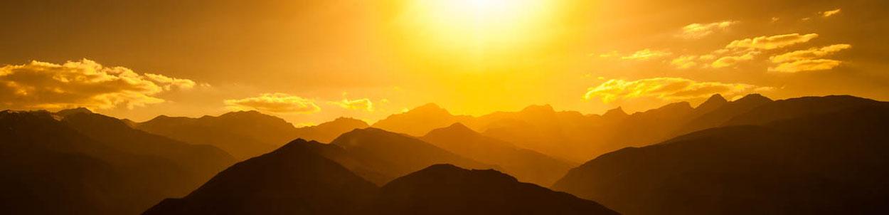 Ferien im Himalaya, Abendstimmung