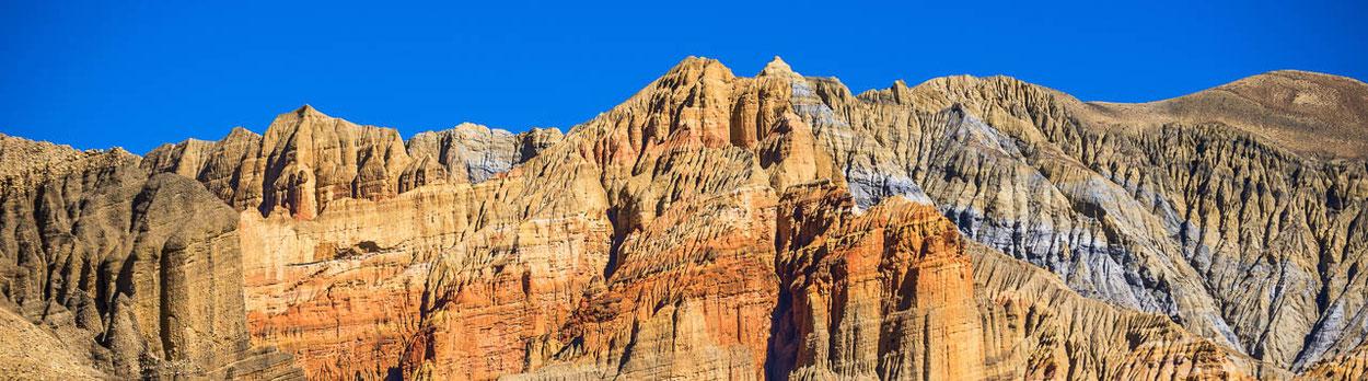 Trekking von Lo Manthang in Mustang über den Pass Teri La nach Nar