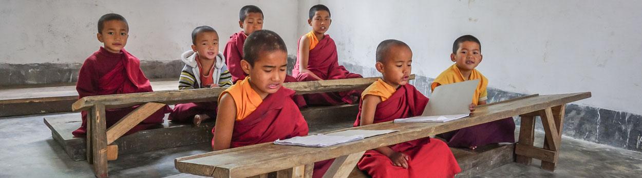 Kloster in Sikkim während Himalaya Tours-Reise