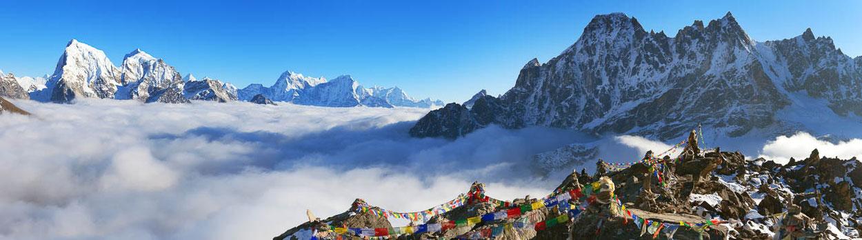 Ama Dablam während des Everest Panorama Trekking in Nepal