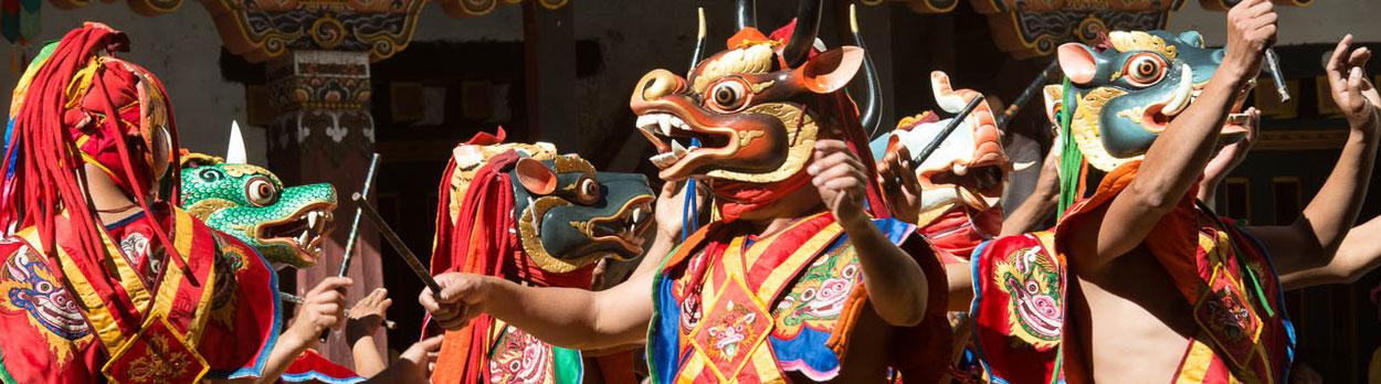 Klosterfest in Mongar und Trashigang - während der Reise Quer durch Bhutamn