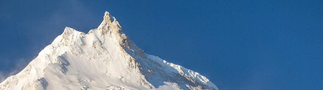 8000er Manaslu in Nepal, einer der schönsten Berge im Himalaya