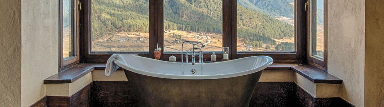 Kultur und Wanderreise in Bhutan, wir logieren in sehr guten Hotels der oberen Klasse