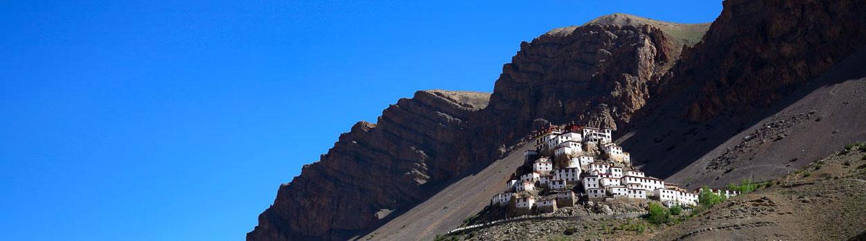 Kloster Dankhar in Spiti - Reise von Shimla nach Kinnaur, Spiti, Manali nach Delhi