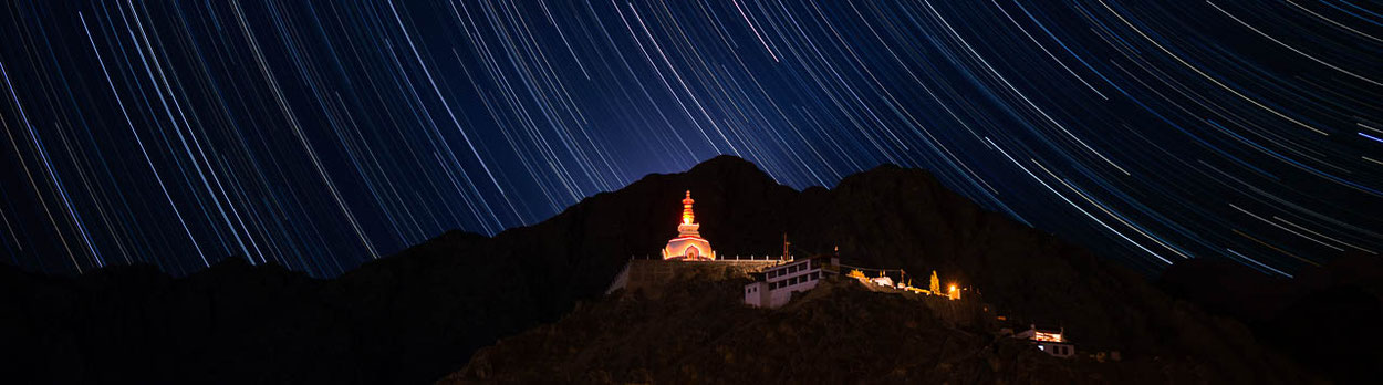 Reise nach Ladakh und Bhutan, Sternenhimmel über Leh