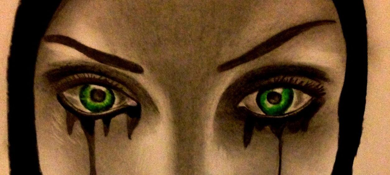 Maskenaugen-schwarze Malerei