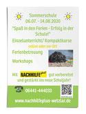 Nachhilfe plus!, Sommerschule, Wetzlar, Ferienprogramm, Ferienbetreuung, Workshops, Kurse, Nachhilfe