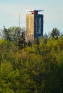 der Turm vom südlichen Parkplatz aus