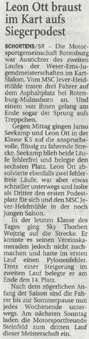Nordwest-Zeitung 01.06.18