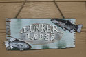 Lunker Lodge Front Door Sign