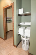 Lunker Lodge Master Bath Linen Closet