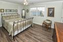 Guntersville lake house master bedroom