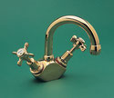 Heritage Twinner Basin Duo Mixer w/- Swivel Gooseneck Outlet, WELS 4 star rating, 7.5L/min