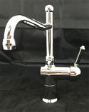 Roulette Lever Mixer with Olde Adelaide Spout Chrome, WELS 4 star rating, 7.5L/min