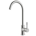 Caption:  Stainless Steel Gooseneck Sink Mixer - Deluxe, WELS 5 star rating, 6L/min
