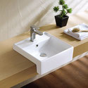K311D Square Semi Recessed Basin 410x410x145mm